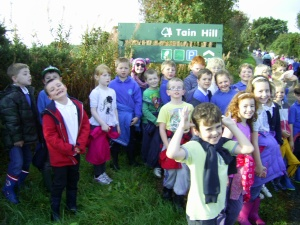 The whole school took part in a sponsored walk to raise money for the school funds.