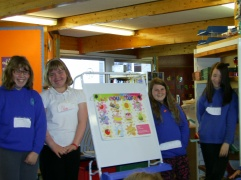 On European Languages' Day our P7 pupils were teaching French to all the other classes in the school.