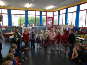 The children in Craighill Gaelic Nursery invited P1-3 to their Burns' Supper