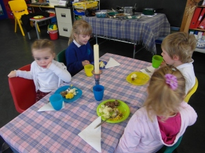 The Burns' Supper at Craighill gaelic Nursery. We do not all like haggis!!!!